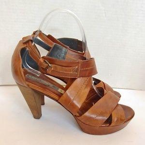 Alberto Fermani brown leather heels.